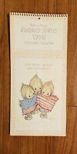 New listing Hallmark - Betsey Clark Kindred Spirits Postcard Calendar 1976 Patriotic (unused