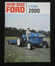 """1965 """"NEW-SIZE FORD 2-PLOW 2000 TRACTOR"""" SALES BROCHURE VERY GOOD"""