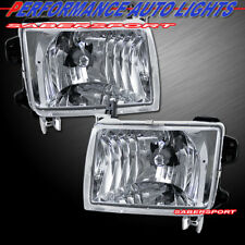 Set of Pair Euro Clear Chrome Headlights for 1998-2000 NISSAN FRONTIER