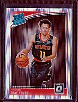 Trae Young 2018 19 Panini Donruss Optic Rated Rookie #198 Hawks RC Shock Prizm