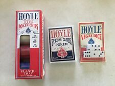 ALL SEALED Vintage Hoyle Playing Cards Poker Chips Vegas Dice
