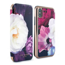 OFFICIAL Ted Baker Mirror Folio floral Case for iPhone X - Blushing Bouquet