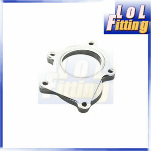 New 5 Bolt Turbo Exhaust Downpipe Outlet Flange + Gasket Kit For T3 T3/T4