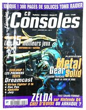 Magazine CD Consoles N°47 Couverture Metal Gear Solid - Soluce Tomb Raider etc.