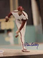 Steve Carlton Autograph 8x10 Signed Photo w/ JSA COA Philadelphia Phillies HOF