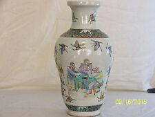 Chinese Qing Dy Kangxi Reign Mark Famille Rose Glaze Porcelain Vase
