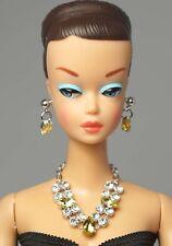 Barbie Doll Vintage FR Silkstone Yellow Topaz Necklace Earrings Jewelry NE2200