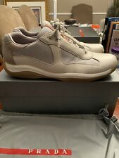 PRADA PS 0906 Men's Americas Cup Sneakers White SIZE 10.5 (insoles are 11.5)