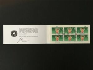 GERMANY BOOKLET 1985 SPORT SPORTS AID OLYMPIC COMMITTEE BASKETBALL m2455