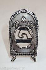 Ancien cadre photo en argent massif, sterling silver frame antique