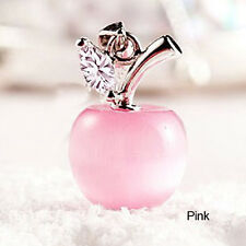 Women Personality Apple Moonstone Pendants Jewelry Without Chain for Gift Pink