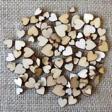 Mini 200*Wooden Small Mix Rustic Love Heart Wedding Table Scatter Dec