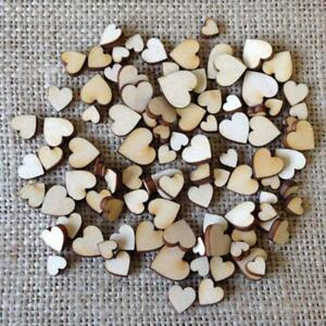 Mini 200*Wooden Small Mix Rustic Love Heart Wedding Table Scatter Decor SALE