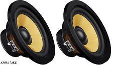 2 Stück Monacor HiFi-Bassmitteltöner SPH-174KE, 100Wmax, 8Ohm, 88dB/W, 168mm