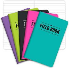 """New listing Field Notebook/Pocket Journal - 3.5""""x5.5"""" - Assorted Colors - Lined Memo Book -"""