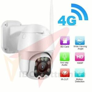 Telecamera IP Camera 4G LTE 5X Zoom 2 Mpx HD 1080P IR Motorizzata IP66 Dome GSM