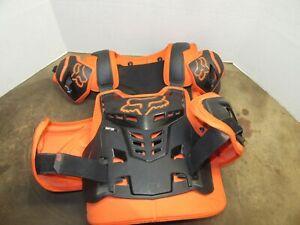 FOX Men's Adult L/XL Raptor Vest CE Chest Protector Guard KTM Orange Motocross