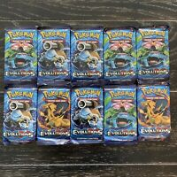 Pokemon XY Evolutions 10 Booster Pack Lot Sealed +Ready To Ship Fast Charizard