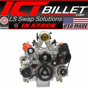 LS Truck Low Mount Alternator Power Steering Pump Bracket LSX LS3 LQ4 LQ9 Billet