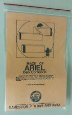 Maze of Ariel Dark Corridors by Not Polyoptics for TI 99/4 4A 1981 tape version