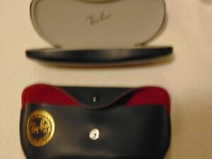 Ray Ban Sunglass Case Lot of 2,Clam Shell Hard Case,Snap Closure with Gold Logo