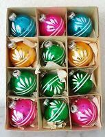Weihnachtsschmuck Christbaumschmuck 12 Kugeln gold rosa blau grün christmas tree