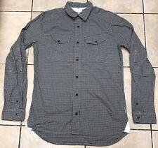 Adidas Originales cheque de camisa de mangas largas Medio Gris Negro artículo de ejemplo