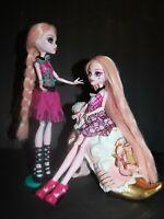 Lot 2 MONSTER HIGH Draculaura Dolls CUSTOM REROOT Pale Pink Hair Ready for OOAK!
