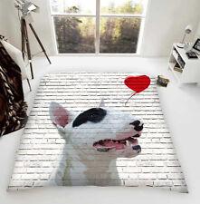 Englischer Bullterrier Liebe Ballon Luxus Fleece Tagesdecke Hund Schafliebhaber