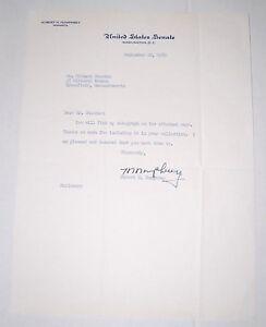 1960 HUBERT HUMPHREY AUTOGRAPH signature political pin campaign RICHARD STRECKER