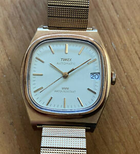 TIMEX AUTOMATIC MEN'S WATCH analog display running 1960s