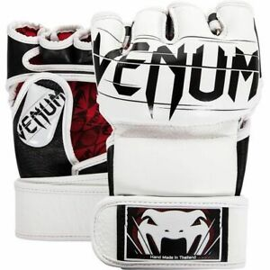 VENUM UNDISPUTED 2.0 NAPPA LEATHER MMA FINGERLESS GLOVES - BLACK OR WHITE