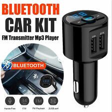 Bluetooth Car Kit Wireless FM Transmitter Adapter Dual USB Charger Mp3 Player