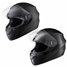 M L XL Full Face Helmet Motorcycle Motorbike Racing Road Bike w/ Visor Air Vent