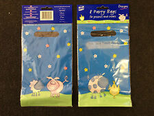 New official lotus farm friends party loot bags plastic gift bags x32 BNIP