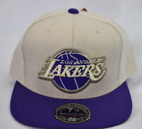 Mitchell & Ness NBA Los Angeles Lakers Hi Crown Fitted Hat Cap NWT 7 1/8, 7 1/2