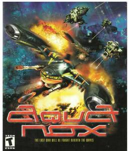 Aquanox aqua nox  versione cartonato da collezione  pc gioco
