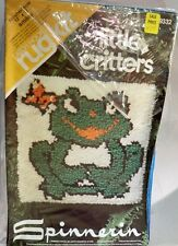 Vintage Spinnerin Little Critters Smiley Latch Hook Rug Kit 9332
