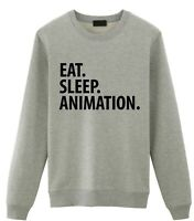 Animator Gift, Eat Sleep Animation Sweatshirt Mens Womens Gift - 2050