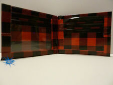 Duct Tape Wallet Black and Red checkered design Handmade