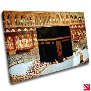 Islamic Muslim Islamic Mecca Haram CANVAS Wall Art Picture Print A4
