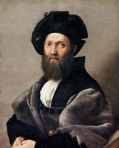 Raphael - Portrait Baldassare Castiglione, Museum Art Poster, Canvas Print