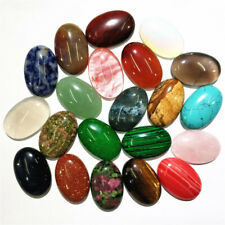 5pcs Oval Stones Quartz Semi-precious Crystal Natural Charms for Jewelry Making