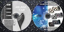 2.650 Patches ZOOM G1-G1x,G1N-G1XN,G2-G2.1u. Multi Effects. 48.328 Guitar TAB