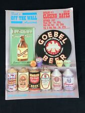 Fink's Beer Auction Catalog #11 Signs Cone Top Cans Trays Goebel Bushkill 1997