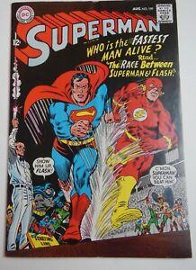 Superman # 199 Aug '67Very FINE++ 1st Superman/Flash Race Iconic/Key GORGEOUS!
