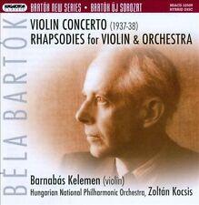 Bartok: Violin Concerto / Rhapsodies for Violin & Orchestra, New Music