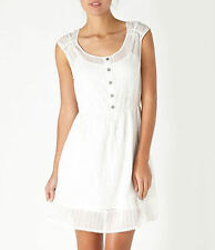 VERY PRETTY Quiksilver White Water Dress - Large (see measurements) - FREE SHIP