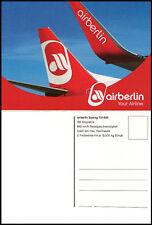 NEU AIR BERLIN POSTKARTE FLUGZEUG BOEING 737-800 AIRLINE