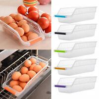 Slide Kitchen Fridge Freezer Space Saver Organizer Storage Rack Shelf Holder Box